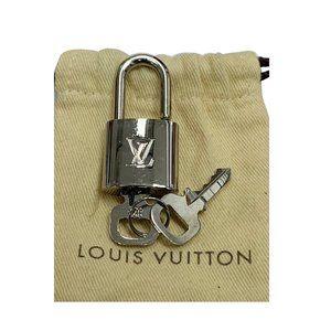 Louis Vuitton Accessories - LOUIS VUITTON PADLOCK AND 2 KEYS SILVER BAG CHARM